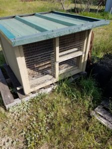 wood and metal chick brooder